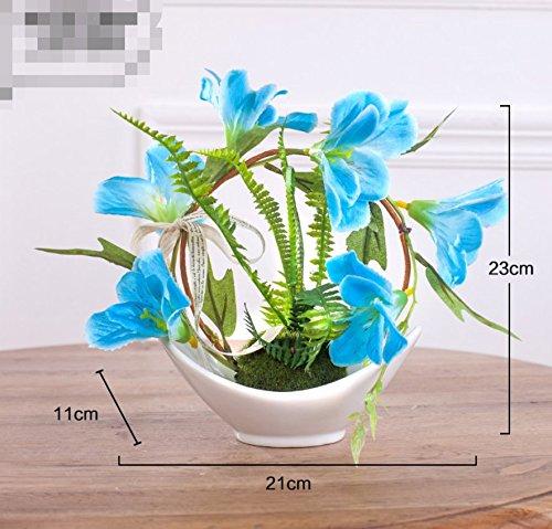 LLPXCC Flores artificiales Creativo casa floral mesa de comedor sala de estar de estilo europeo moderno sencillo flores…