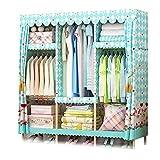 XIAONUA Schrank-Speicher-Organisator-Hängen, beweglicher Kleiderschrank, Schranksysteme für Schlafzimmer-Holz, einfach und elegant,D_51.8x17.7x66.9 in