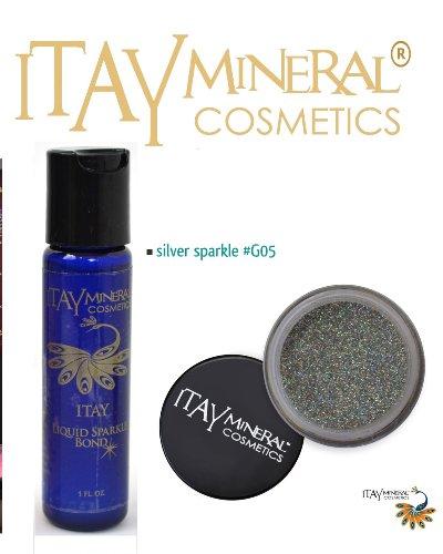ITAY Mineral Cosmetics Liquid Eclatant Bond + Ombre a paupieres paillettes G5 Silver Sparkle