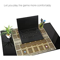 Vovotrade® 60x60cm Tapis Jeu Caoutchouc Tapis Compétition Style Mural Egypte pour YU-Gi-Oh Carte Rubber Play Mat Egypt Mural Style Competition Pad for YU-gi-Oh Card (Colour)