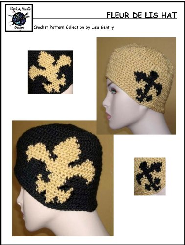 Fleur De Lis Crochet Pattern 150 For Hat Ebook Lisa Gentry
