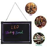 Tablette lumineuse LED Rétro-éclairé Panneau Affichage avec 8pcs Surligneurs (40x60cm)
