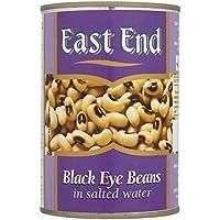 East End Frijoles De Ojo Negro En Salmuera 400g (Paquete de 6)