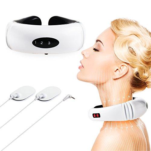 REAQER Collier de Massage chauffant à impulsions pour la Nuque douleur cervical circulation sanguine Masseurs électriques portables