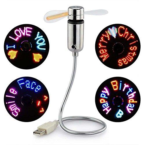 JUBLUN Ventilatore USB, Nuovi LED programmabile Ventola per PC Laptop Computer Desktop Flessibile a Collo d\' Oca Colorati Ventola di Raffreddamento