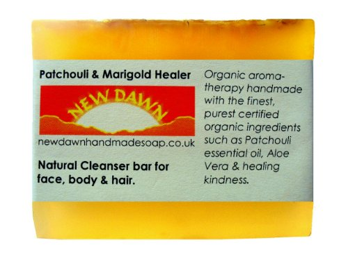 Natural Soap Bar (Handmade Natural Patchouli Soap Bar - Range No.1 - Dreadlock / Hair Dreads / Dread Shampoo Solid Soap Bar Shampoo, Leaves Hair Light and Dry With No Residue - 75g by New Dawn)