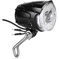 INTEY Scheinwerfer LED Fahrradlicht 40 Lux Fahrradbeleuchtung für Nabendynamo Fahrradscheinwerfer, Fahrradlampe mit Anschluss für Rüchlicht, Schwarz