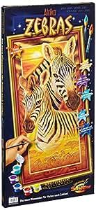 Schipper 609220473 - Malen nach Zahlen - Zebras, 40x80 cm