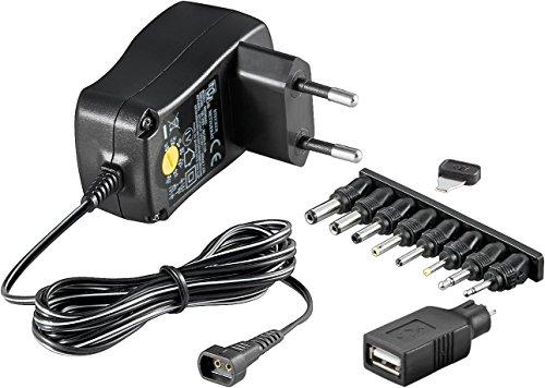 Universal Netzteil 600mA 3V / 4,5V / 5V / 6V / 7,5V / 9V / 12V inkl. 8 Adapterstecker plus USB (Adapter Power 5v Switching)