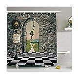 DOLOVE Duschvorhang Stoff Waschbar Bad Stange Vorhang Duschvorhang Badewanne Badewanne Vorhang Bunte 90x180CM