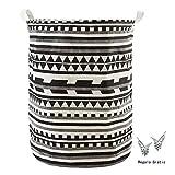 838258868 Kanggest Patrón Patrón geométrico Cubo plegable de lino y algodón cesta  para la ropa sucia,