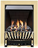Eastleigh Slimline Radiant Top Control Gas Fire - Chrome/Black-P