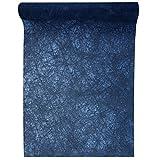 Santex Chemin de Table Fanon Bleu Marine 30cm x 25m (x1) REF/4754