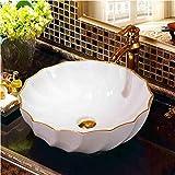 dwthh Jingdezhen en céramique art comptoir lavabo bol pour salle de bains lavabo...