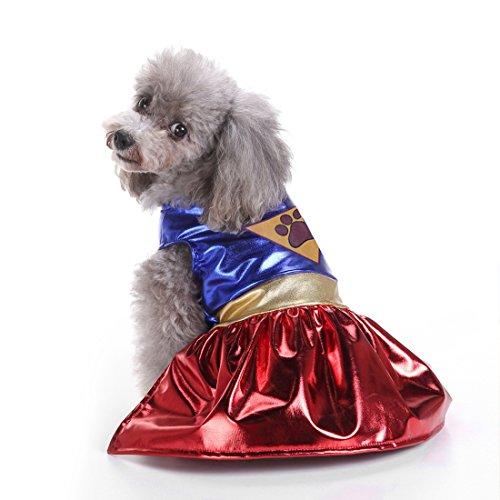 tüme Lustige Hundekostüme Set Hundepulli Minikleider für Cosplay Weihnachten Halloween Fasching, Supergirl M (Supergirl-halloween-kostüme)