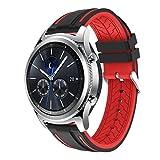 Ansenesna Sport Bracelet Smartwatch Silikon Armband Fitness Tracker Runtastic für Samsung Gear S3 Classic Wasserdicht (Rot)