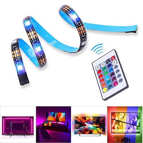 MASOMRUN LED TV Hintergrundbeleuchtung,4 * 0.5M USB Led Beleuchtung Hintergrundbeleuchtung Fernseher USB für 40 bis 60 Zoll HDTV,TV-Bildschirm und PC-Monitor,Led Strip