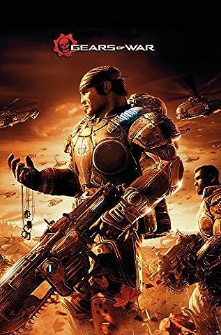 GB eye Gears of War 3 Key Art Maxi Poster, Wood, Multi-Colour, 61 x 915 cm