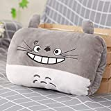 hhjxptst Plüschtier, Panda Totoro Warme Hände, Werfen Plüsch, Kissen, Ultra-weich, Komfortabel, Gefüllt, Geschenk Für Kinder, 30cm Drachenkatze lacht