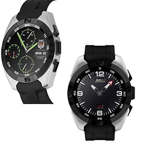mart Watch Fitness Tracker mit Herzfrequenz Armband Aktivität Tracker Gesundheit Schrittzähler Monitor Sport Armband Armbanduhr Telefon für iPhone IOS und Android Smartphones ()