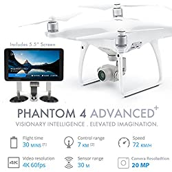 DJI Phantom 4 Advanced plus (with 5.5 inch screen) quad-copter Drone with One extra battery