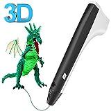3D Pluma,Tecboss Inteligente Pen Bolígrafo de Impresión Estereoscópica con Soporte de Seguridad para Crear y Modelar Figuras 3D Compatible con PLA / PCL Filamento + 2 Filamentos Gratuitos