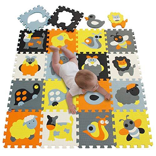meiqicool Alfombrillas para Puzzles | Alfombra Puzzle para Niños Bebe Infantil 18...