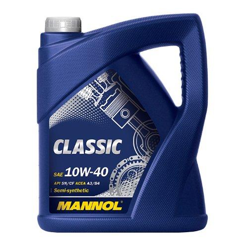 MANNOL Classic 10W-40 API SN/SM/CF Motorenöl, 5 Liter