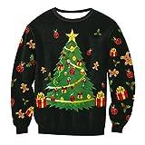 Sweatshirt Damen Weihnachten Rundhalsausschnitt Druck Weihnachtsmotiv Pullover Wintermantel Damenmäntel Top Jumper M