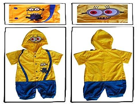 Minion Toddler Costume - Despicable Me Minion bébé garçon Grenouillère/Party Fancy
