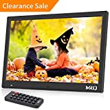 MRQ 14.1 Inch Digital Photo Frame Full HD 1080P Supported Picture Music Video Player with Motion Sensor and Remote Control, Support MP3 Music, E-book, Calendar, Alarm Clock