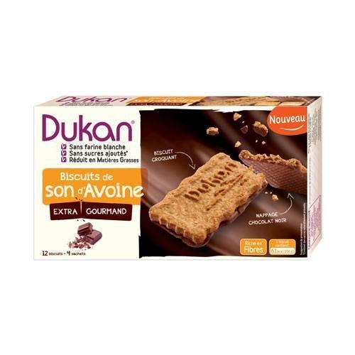 Biscuits son d'avoine nappés chocolat 12 biscuits