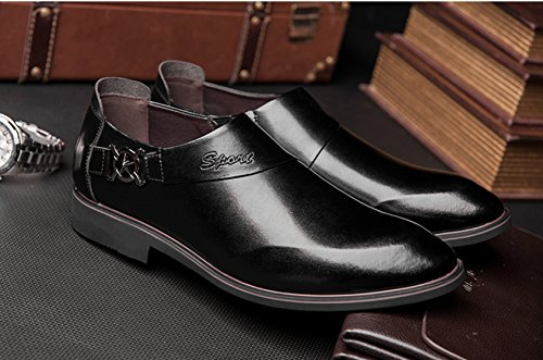 Hommes En Cuir Printemps Automne Noir Bleu Mode Confortable Bas Haut Business Décontracté Formelle Derby Oxford Mocassins Chaussures Black