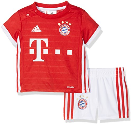 Adidas Fcb H Baby 1º Kit Del Bayern Fc Tuta Da Ginnastica, Bebè, Rosso/Bianco (Rojfcb/Blanco), 86