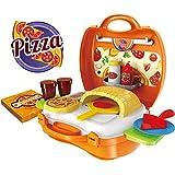 Webby Pizza Suitcase Set, Multi Color