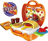 #5: Saffire Pizza Suitcase Set, Multi Color