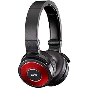 AKG 619 Premium DJ-On-Ear Kopfhörer mit Apple iPhone Steuerung und Mikrofon rot