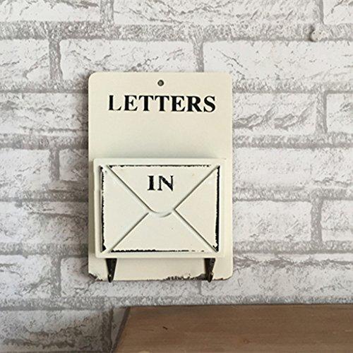 Muro Conservare Retro creativo abbellimento decorazioni Lettera Inserito multi - funzionale gancio Mantello legno appeso Fiori ( colore : Bianca )