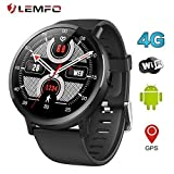 LEMFO LEMX Smart Watch Phone 4G LTE – Android 7.1 2,03 Zoll Bildschirm MTK6739 1 GB + 16 GB 8 MP Übersetzer GPS WiFi Herzfrequenz Monitor Smartwatch für Männer und Frauen