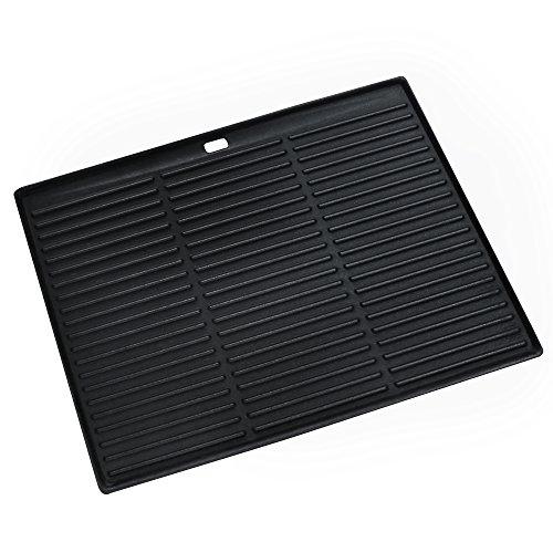 Grill & More Essentials Placa de giro | Bandeja de hierro fundido 2 en 1 reversible para barbacoa, 35 x 45 cm