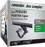 Rameder Attelage rotule démontable pour Peugeot Partner Tepee + Faisceau 7 Broches...