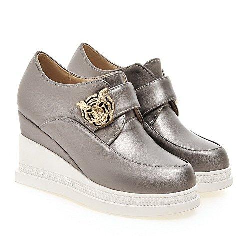 Adee Femme metalornament polyuréthane Pompes Chaussures Gris - gris