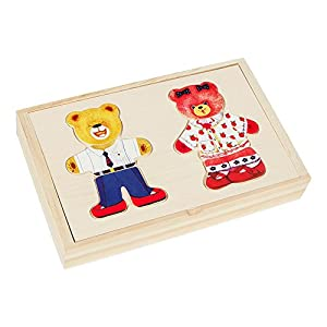 Play & Learn - Figuras de madera Ositos (ColorBaby 43604)