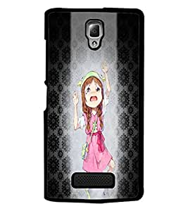 PrintDhaba Crying Girl D-2936 Back Case Cover for LENOVO A2010 (Multi-Coloured)