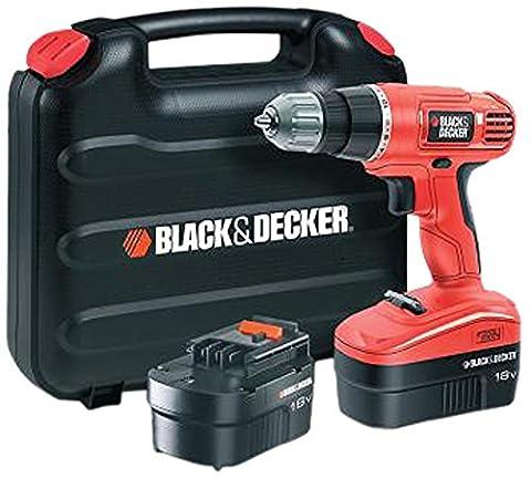 Black + Decker EPC18CABK Perceuse-Visseuse sans fil 18 V - 18v Cordless Drill Set