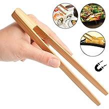 schwarz magnetisch Bambus 24/cm Pebbly Toaster Zange