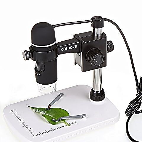 USB Microscope, Crenova® UM012C USB Microscope numérique 5MP vidéo Microscopique