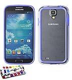 MUZZANO Original Ibrida'-Custodia Bumper per Samsung Galaxy S4 Advance, Colore: Blu