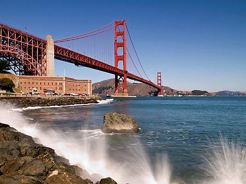 Faszinierende Golden Gate Bridge 1000 Teile Puzzle quer