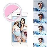 Yiiyaa Selfie Kamera Ringlicht Für Handy Led Ringleuchte Ring Licht Fotolicht, Dimmbar Aufsteckbar Wiederaufladbar Mit 4 Ebene Helligkeit Universell Für Iphone 7, 7 Plus, 6S, 6, 5S, SAMSUNG... Rosa